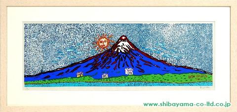 草間彌生「宇宙や人類の生命のありか」s木版画