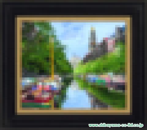 小田切訓「西教会のある運河」油彩8号