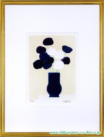 カトラン「青い花」sリトグラフ