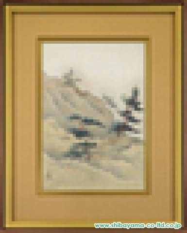 小野竹喬「松丘」日本画