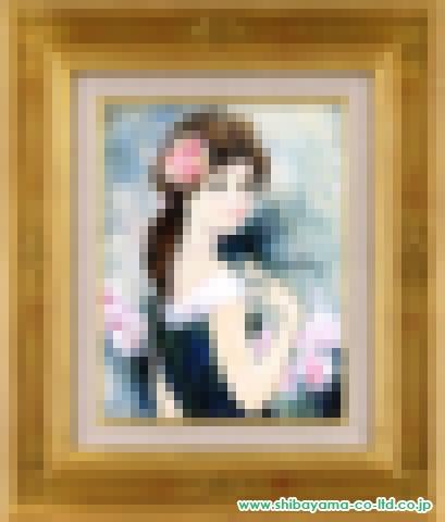 シャロワ「髪飾りの少女」油彩5号