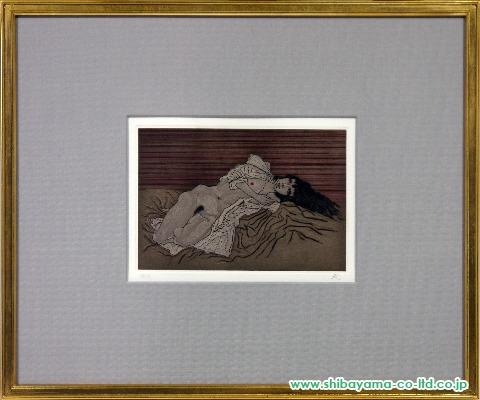 加山又造「白衣の裸婦」s銅版画
