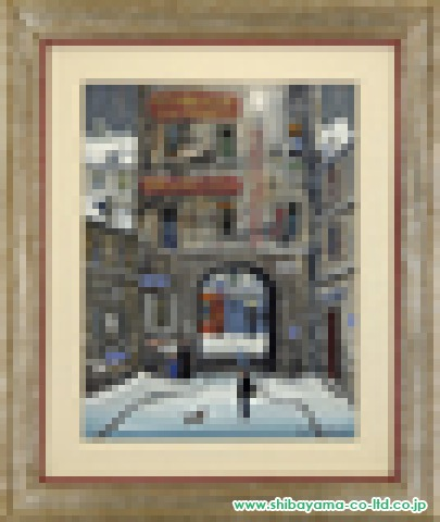 ドラクロワ「Une Cour(中庭)」油彩5号