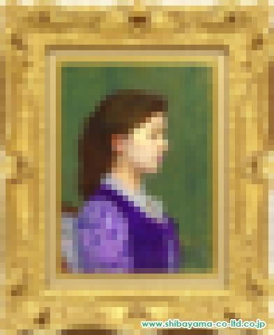 中山忠彦「ロイヤルパープル」油彩4号