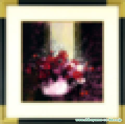 武井政之「光の中の愛の花」紙に油彩8S