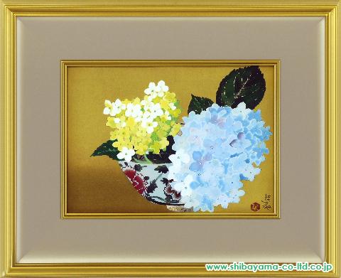 小倉遊亀「咲きこぼれる」木版画