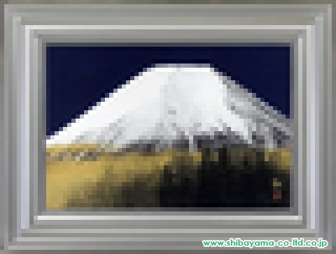 中路融人「霊峰」日本画M12号