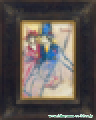 松井ヨシアキ「ブランコの二人」s油彩SM