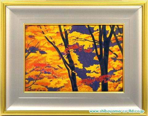 東山魁夷「照紅葉」s木版画
