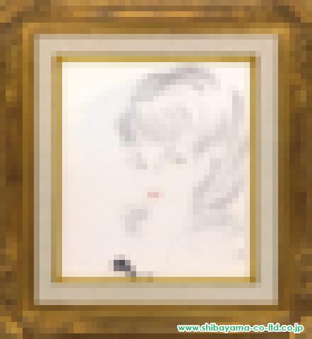 東郷青児「婦人像」水彩色紙