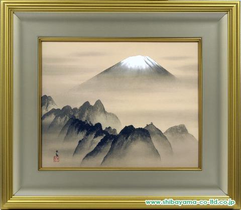 横山大観「日本心神」リトグラフ
