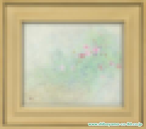 竹内浩一「秋桜」日本画8号