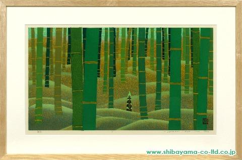 井堂雅夫「静寂」s木版画