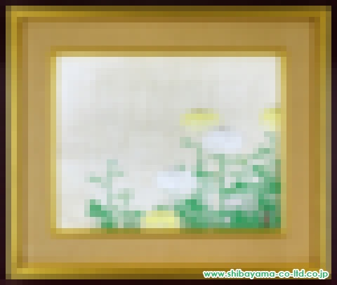 前田青邨「菊」日本画