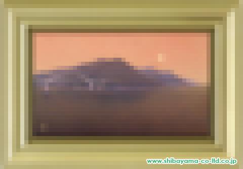 佐々木裕而「黎明内海大橋」日本画M6号