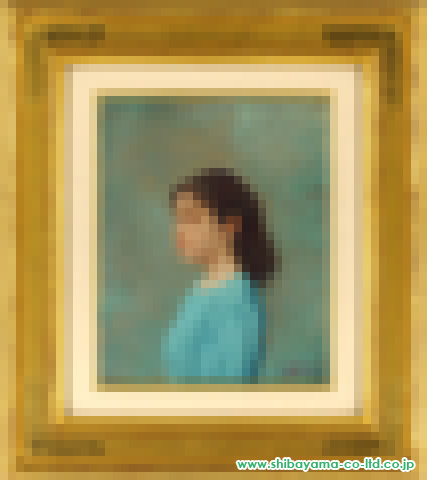 藤井勉「少女」油彩3号