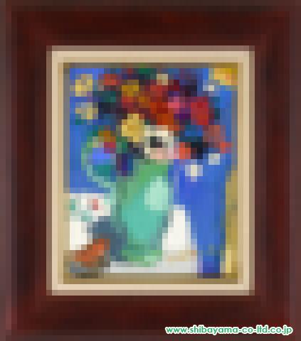 松井ヨシアキ「鳩笛とブーケ」s油彩3号