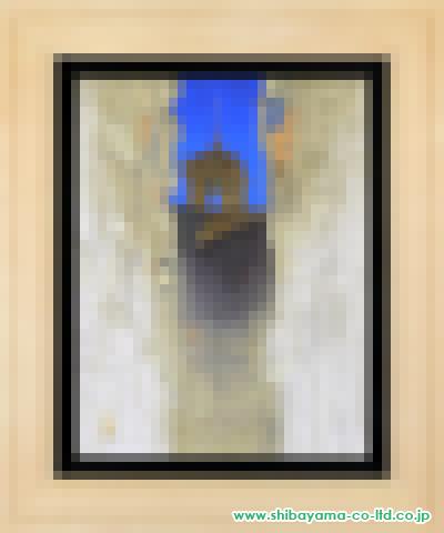 中村譲「異国の空(スペイン・トレド)」s日本画P10号