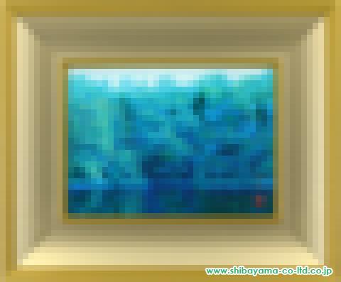 浜田昇児「湖畔」日本画4号