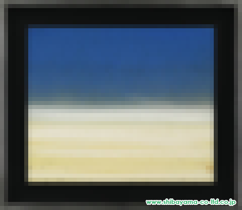 釘町彰「sea scape (blue)」2日本画8号