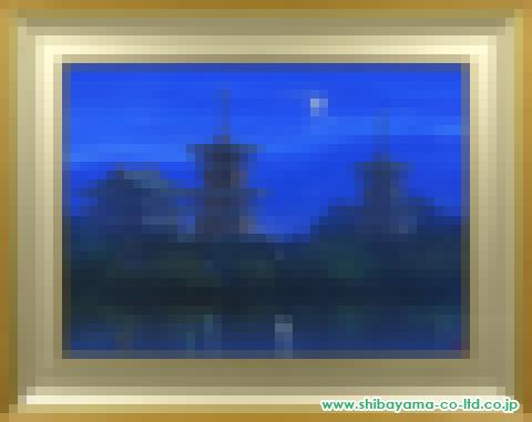 清水規「薬師寺月明」日本画20号
