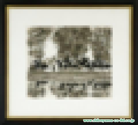 アンドレ・ブラジリエ「大きな鳥小屋(下図)」s水彩