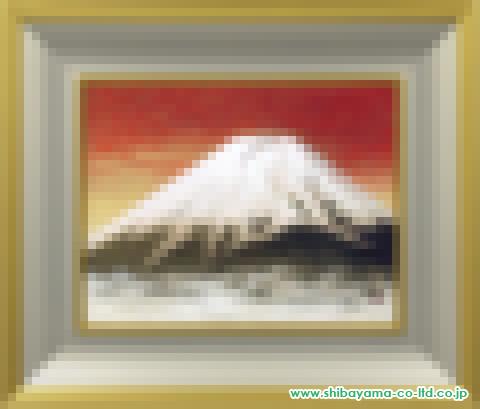 竹内邦夫「富士」s日本画6号