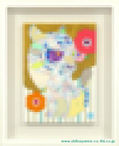 安岡亜蘭「white tiger」 アクリル4号