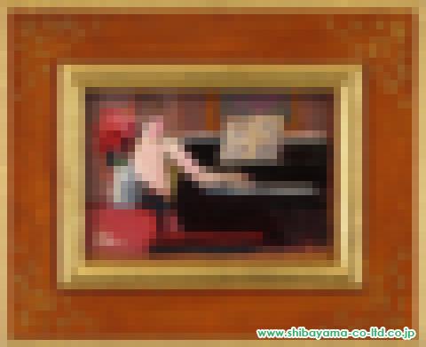 田中善明「ひととき」油彩15×10.5