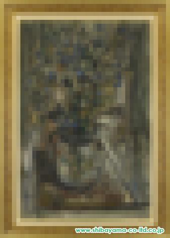 ラポルト「花瓶の花」s油彩M40号