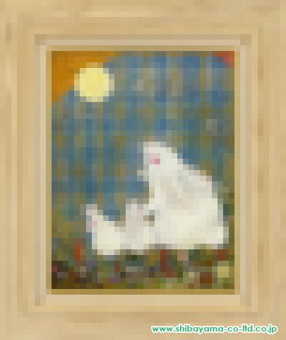 竹内香ノ子「十五夜お月様」sオイルパステル6号