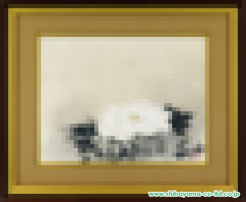 前田青邨「牡丹」s日本画12号