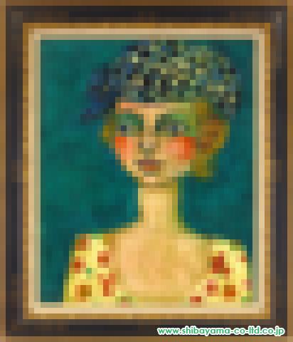 アイズピリ「帽子のマルチーヌ」油彩20号