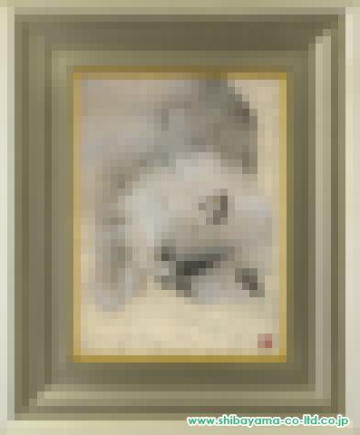 川本淑子「うたた寝」s日本画4号