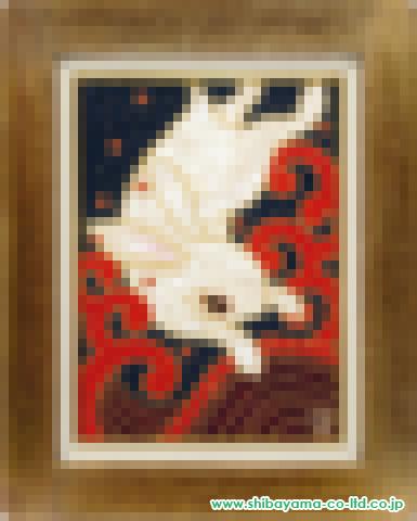 カネコミホ「波兎」s油彩4号