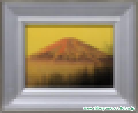 中村宗弘「赤富士」s日本画4号