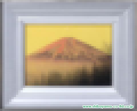 中村宗弘「赤富士」日本画4号額s
