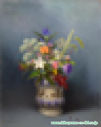 五味悌四郎「野の花」s油彩P10号