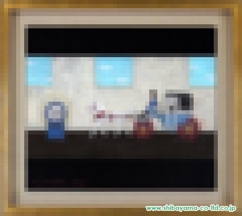 中本智絵「plat form」日本画10号