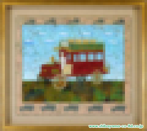 中本智絵「バスに乗って」日本画10号