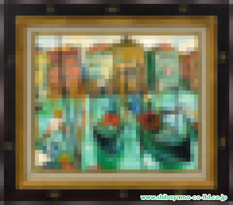 松井ヨシアキ「ゴントランの船着場」油彩8号s