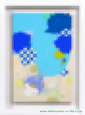 安岡亜蘭「blue rose」アクリルP6号