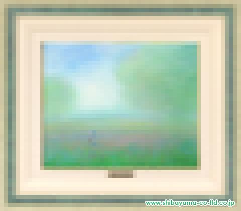 アンドレ・アングル「新緑の中で」sパステル8号