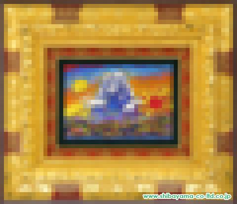 絹谷幸二「富嶽日月の図」sアフレスコSM