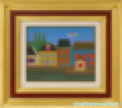 小杉小二郎「セーヌ河畔」油彩
