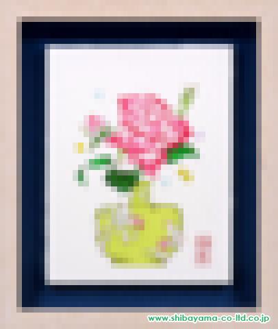 谷川泰宏「薔薇」油彩0号