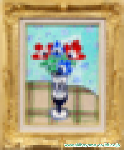 坂口紀良「アネモネ」s油彩4号