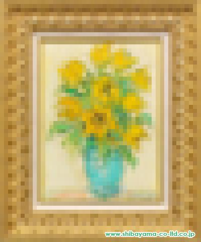 コタボ「黄色い花」s油彩