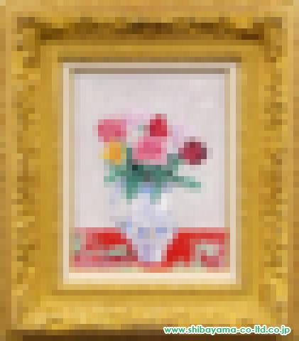 吉井淳二「霞草と薔薇」s油彩5号