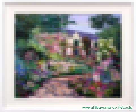 マーク・キング「彩の庭」s油彩